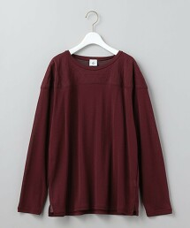 <6(ROKU)>COTTON NYLON × QUILTED FOOT BALL T‐SHIRT/T恤 日本製