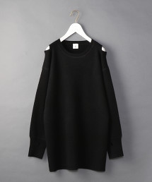 <6(ROKU)>SHOULDER 2HOLE KNIT/毛衣