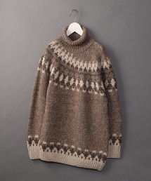 <6(ROKU)>NORDIC ASYMMETRY TURTLE NECK KNIT/毛衣