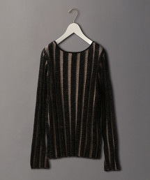 <6(ROKU)>STRIPE LONG SLEEVE KNIT/針織上衣