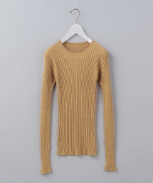 <6(ROKU)>RIB LONG SLEEVE KNIT/針織衫