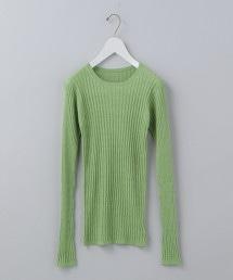 <6(ROKU)>RIB LONG SLEEVE KNIT/針織衫 OUTLET商品