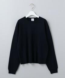 <6(ROKU)>COTTON WOOL RIB CREW NECK PULLOVER/針織毛衣