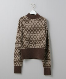 <6(ROKU)>TRIANGLE JACQUARD KNIT PULLOVER/針織毛衣 日本製