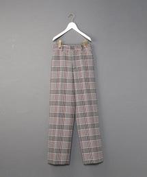 <6(ROKU)>CHECK PANTS/寬褲