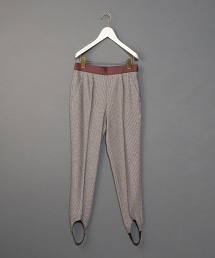 <6(ROKU)>HOUNDSTOOTH SLIM PANTS/內搭褲