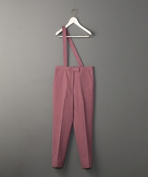 <6(ROKU)>ONE SUSPENDERS PANTS/長褲 日本製◆ OUTLET商品