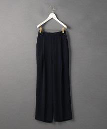 <6(ROKU)>GEORGETTE HIGH WAIST PANTS/長褲 OUTLET商品