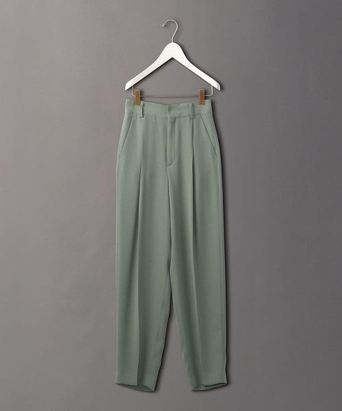 <6(ROKU)>GEORGETTE TUCK PANTS/長褲