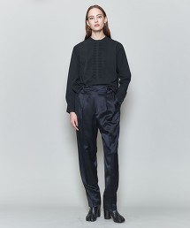 <6(ROKU)>SATIN TUCK PANTS/長褲