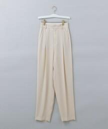 <6(ROKU)>GEORGETTE TUCK PANTS 2/長褲  日本製