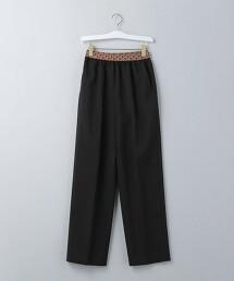 <6(ROKU)>JACQUARD GOMU PANTS/長褲 日本製