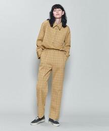 <6(ROKU)>CHECK CUTSEW PANTS/長褲 日本製