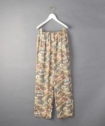 <6(ROKU)>BUFFALO PRINT PANTS/長褲
