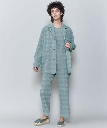 <6(ROKU)>GLEN CHECK PANTS/褲子 日本製