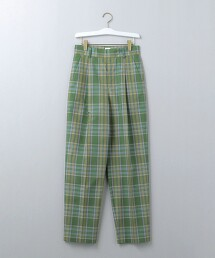 <6(ROKU)>CHECK PANTS/長褲 日本製