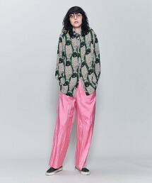 <6(ROKU)>NYLON SILK GATHER PANTS/褲子