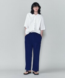 <6(ROKU)>COTTON FRILL COLLAR SHORT SLEEVE SHIRT/襯衫 日本製