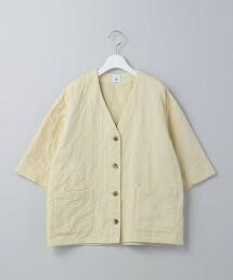 <6(ROKU)>COTTON JACQUARD  V NECK 5SLEEVE SHIRT/襯衫 日本製
