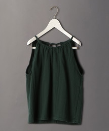 <6(ROKU)>COTTON RIB HALTER NECK CAMISOLE/吊帶衫