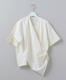 <6(ROKU)>STOLE SHORT SLEEVE PULLOVER/罩衫 日本製