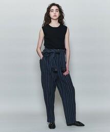 <6(ROKU)>PICOT NO SLEEVE KNIT PULLOVER/針織衫 日本製