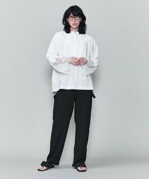 <6(ROKU)>COTTON EMBROIDERY BLOUSE/刺繡罩衫