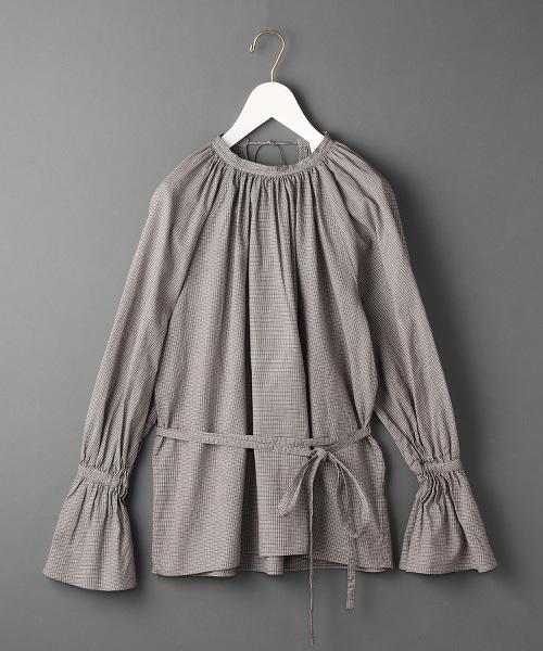 <6(ROKU)>HOUNDSTOOTH TUNIC/束腰上衣