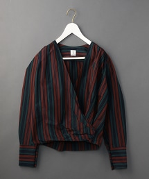 <6(ROKU)>STRIPE CACHE COEUR SHIRTS/襯衫