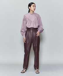 <6(ROKU)>COTTON BAFU VOLUME BLOUSE/罩衫 日本製  OUTLET商品