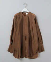 <6(ROKU)>CUPRA DRESS LONG SLEEVE SHIRT/襯衫 日本製