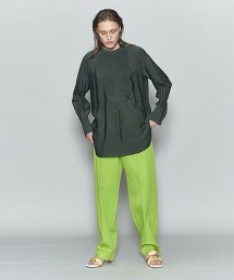 <6(ROKU)>CUPRA DRESS LONG SLEEVE SHIRT/襯衫 日本製