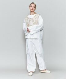 <6(ROKU)>COTTON FLARE SLEEVE BLOUSE/罩衫 日本製