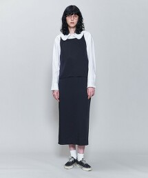<6(ROKU)>SATIN TUNIC/束腰上衣 日本製