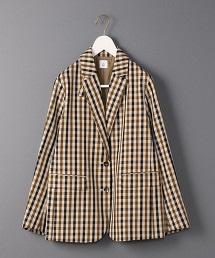 <6(ROKU)>CHECK TAILORED JACKET/西裝外套
