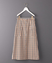 <6(ROKU)>CHECK OVER SKIRT/長裙 OUTLET商品