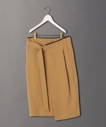 <6(ROKU)>LEATHER PIPING SKIRT/裙子