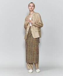 <6(ROKU)>BATIK PRINT MOTIF WRAP SKIRT/裙子 日本製