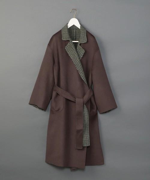<6(ROKU)>DOUOBLE REVER GOWN COAT/大衣