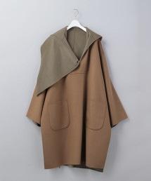 <6(ROKU)>REVER HOODED PULLOVER COAT/大衣