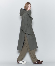 <6(ROKU)>REVER HOODED PULLOVER COAT/大衣