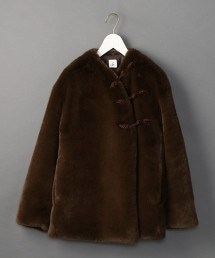 <6(ROKU)>FAKE FUR CHINA OUTER/大衣  OUTLET商品