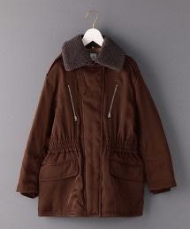 <6(ROKU)>BOA COLLAR ZIP COAT/大衣 OUTLET商品