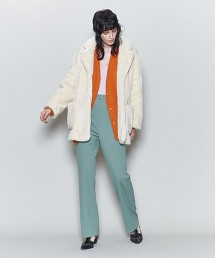 <6(ROKU)>FAKE FUR COAT/大衣 OUTLET商品