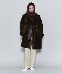 <6(ROKU)>FAKE FUR COAT/大衣