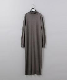 <6(ROKU)>TURTLE NECK KNIT DRESS/洋裝