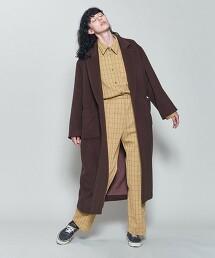 <6(ROKU)>CHECK CUTSEW SHIRT/襯衫 日本製