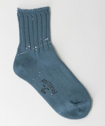 <ROSTER SOX × 6(ROKU)>RIB PAINT SOCKS/襪子 Ψ 日本製