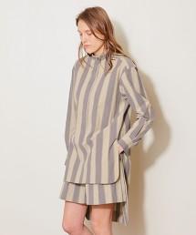 <AEWEN MATOPH>直條紋 立領襯衫 日本製