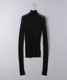<AEWEN MATOPH>透膚 羅紋高領針織上衣